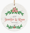 Couples Custom Engagement Ornament for First Christmas Together as Engaged