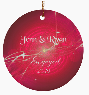 Couples Ornament Personalized Engagement Christmas Ornament