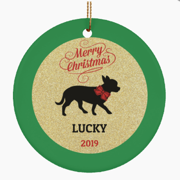 Chihuahua Dog Personalized Christmas Ornament