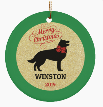 Poodle Dog Personalized Christmas Ornament