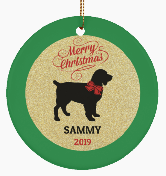 Ceramic Boykin Spaniel Dog Christmas Ornament
