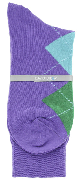 Mens Colored Socks - Fashion Fun Funky Argyle Pack of 3 by David Tutera