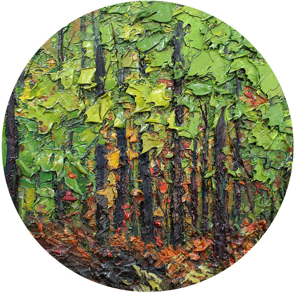 Fine Art Green Forest Glass Cutting Board