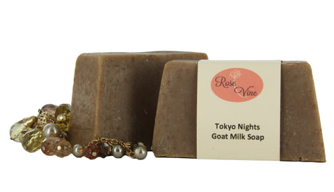 Goat Milk Soap Handmade USA Natural (2 Bars, Tokyo Nights)