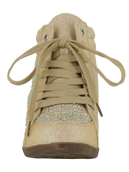 Your Party Shoes Billie Jean Nude Wedge Sneaker