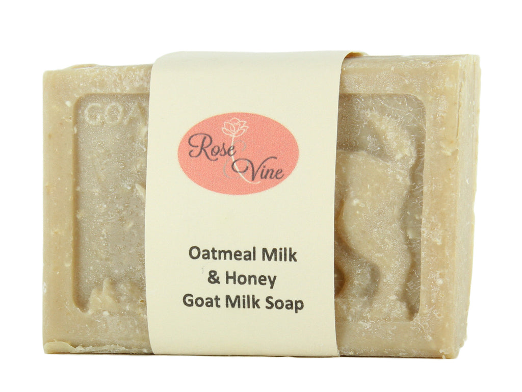 Goat Milk Soap Handmade USA Natural  (1 Bar, Oatmeal Milk & Honey)