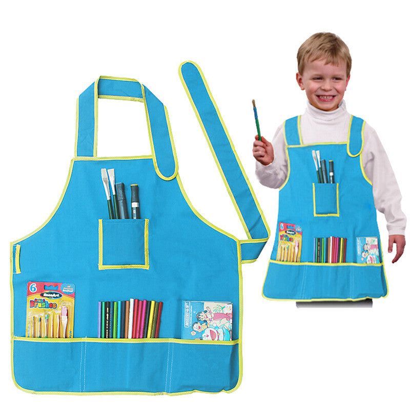 Art Set for Kids - Children's Painting Supplies - Apron Sponge Brushes & Finger Paint Kit