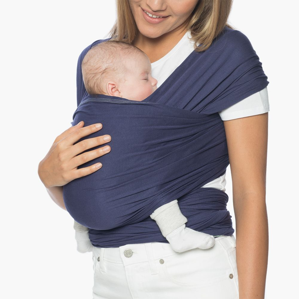Baby Wrap Carrier Lightweight Breathable Easy Fit for Babies 8-25 lbs. in Indigo Blue
