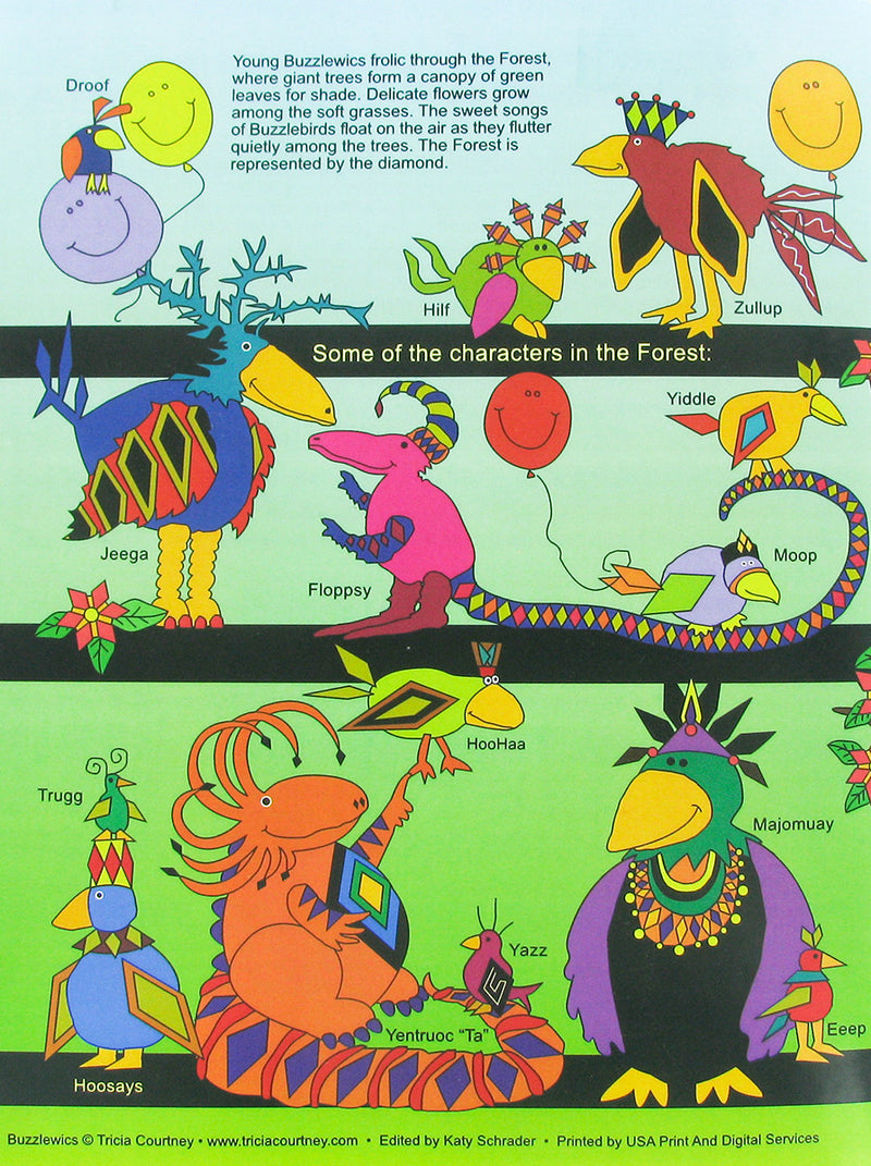 Coloring Books for Children The Land of Buzzlewic - 3 pc Set Forest & Coast + 16 Metallic Crayons
