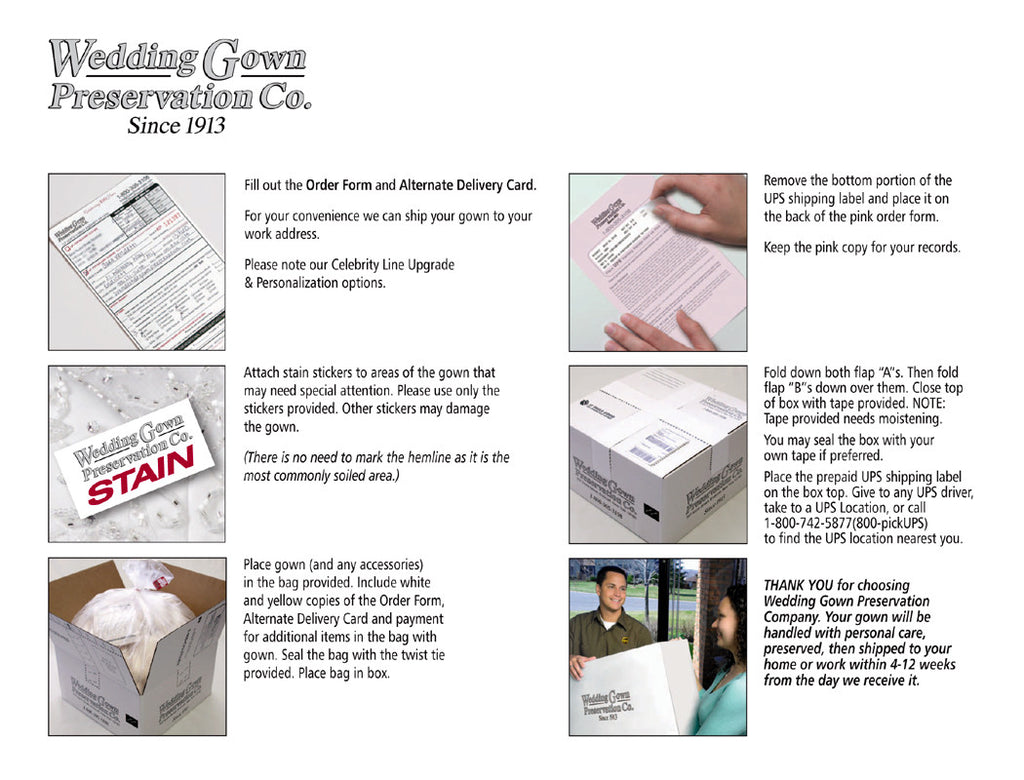 Wedding Gown Preservation Kit Celebrity Line