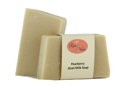 Goat Milk Soap Handmade USA Natural  (2 Bars, Pearberry)