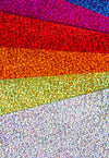 "Glitter Vinyl Sheets Iridescent Holographic 17 Color Sheets 12"" x 12"" Scrap"