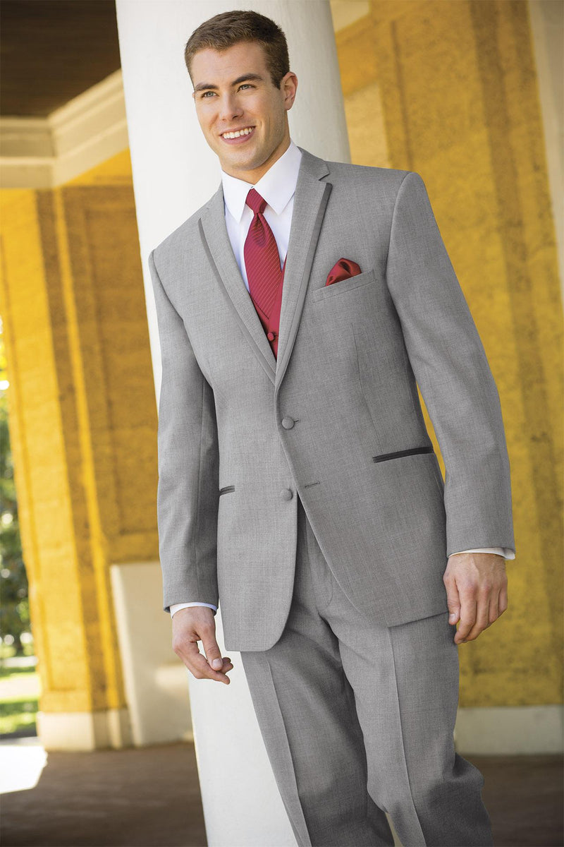 Tuxedo Rental in Light Grey for Wedding, Prom or Formal Occassion - Heather Grey Aspen