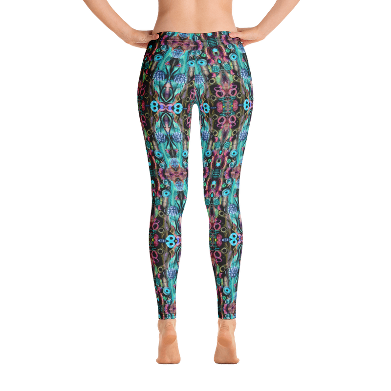 Yoga Leggings in a Unique Geometric Printed Design Dance Workout Casual Apparel