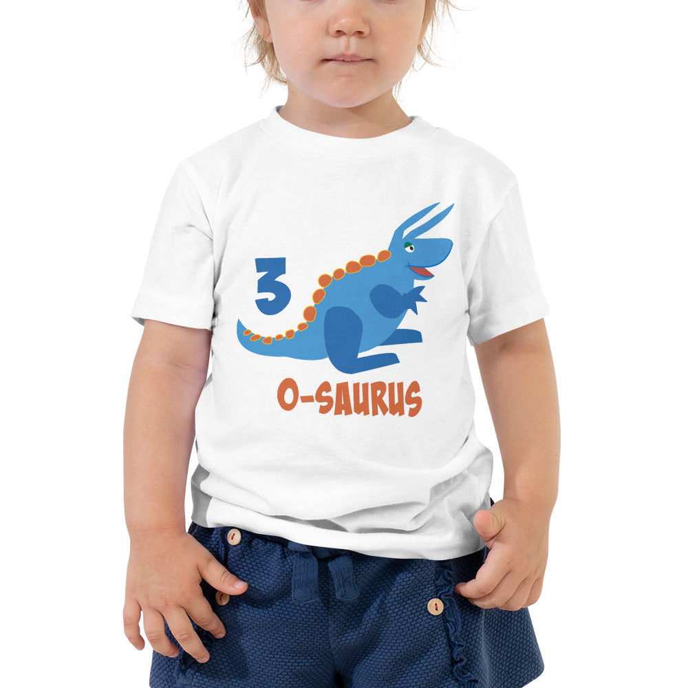 Third Birthday Shirt for 3 Year Old Shirt Boy and Girls 3rd Birthday Shirt with Blue Dinosaur Birthday Shirt Gift for Kids