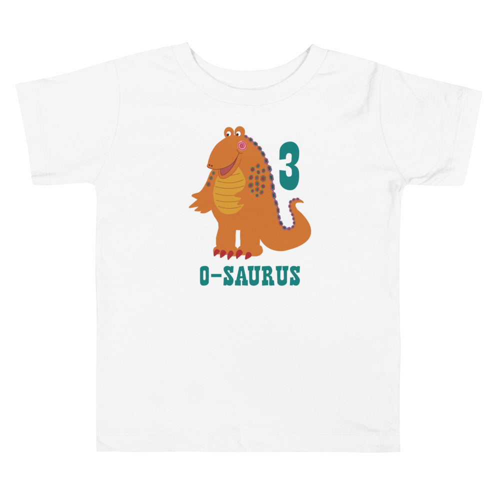 Girls 3rd Birthday Shirt 3 Year Old Shirt Third Birthday Shirt Boys and Girls Orange Dinosaur Birthday Shirt Gift for Kids