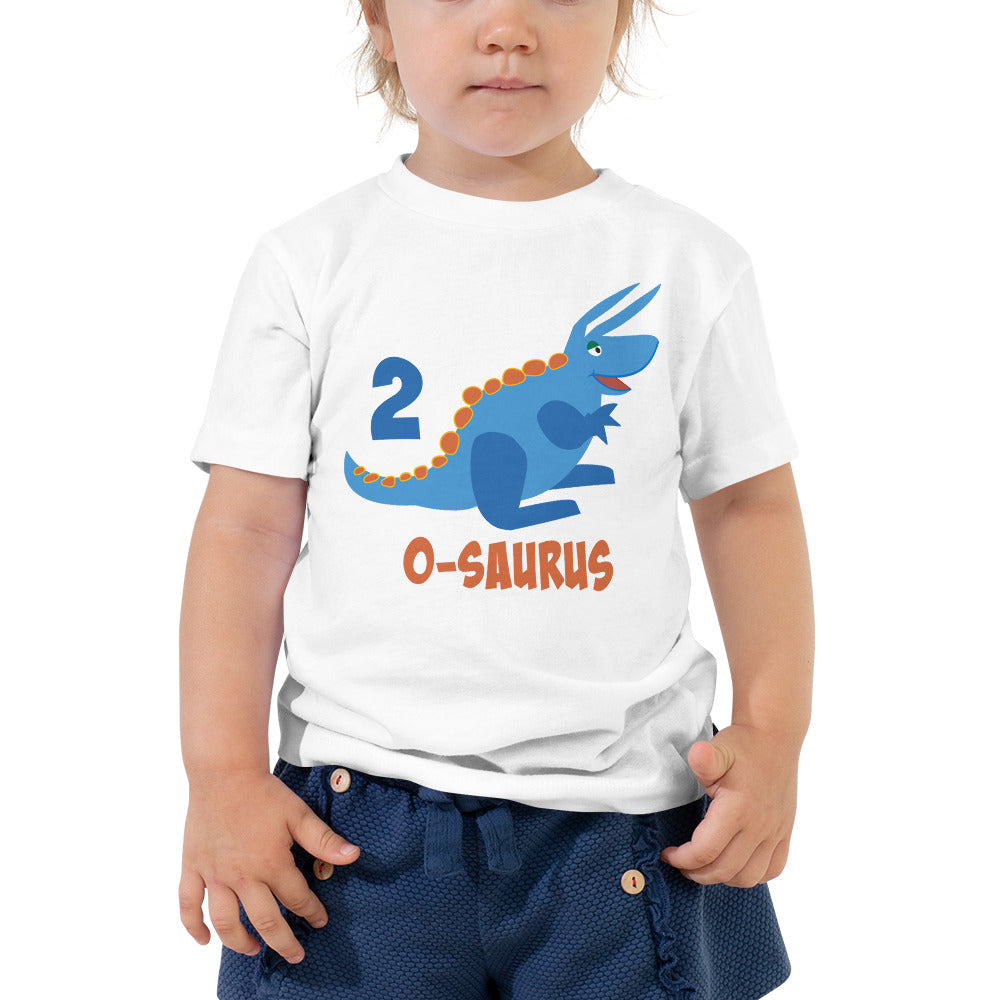 Second Birthday Shirt for 2 Year Old Shirt Boy and Girls 2nd Birthday Shirt with Blue Dinosaur Birthday Shirt Gift for Kids