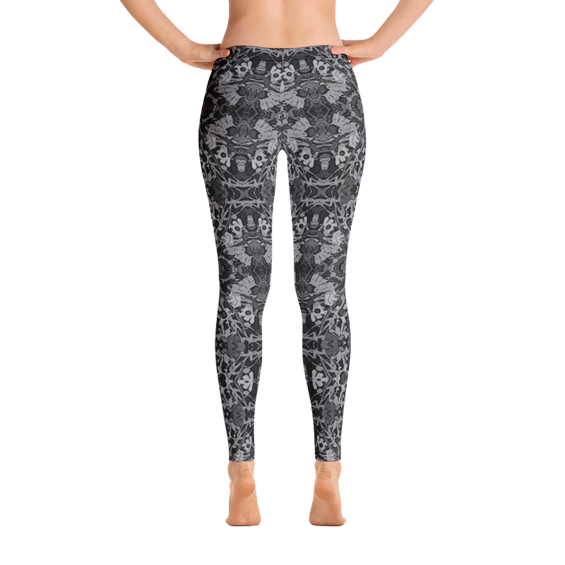 Yoga Leggings in Grey Unique Fashion Design for Dance Workouts Casual Wear