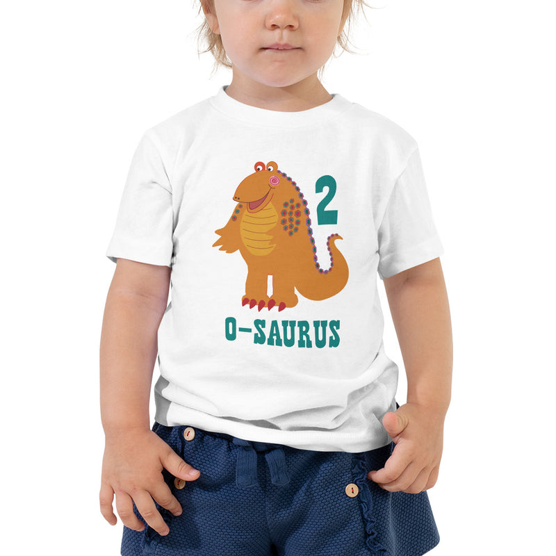 Girls 2nd Birthday Shirt 2 Year Old Shirt Second Birthday Shirt Boys and Girls Orange Dinosaur Birthday Shirt Gift for Kids