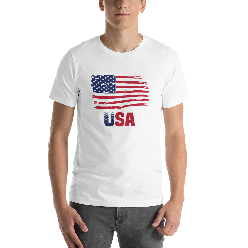 Patriotic Shirts American Pride Freedom Shirt American Flag Clothing for Men and Women Proud to be an American T-Shirt