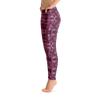 Yoga Leggings in a Unique Pink Geometric Printed Design Dance Workout Casual Apparel