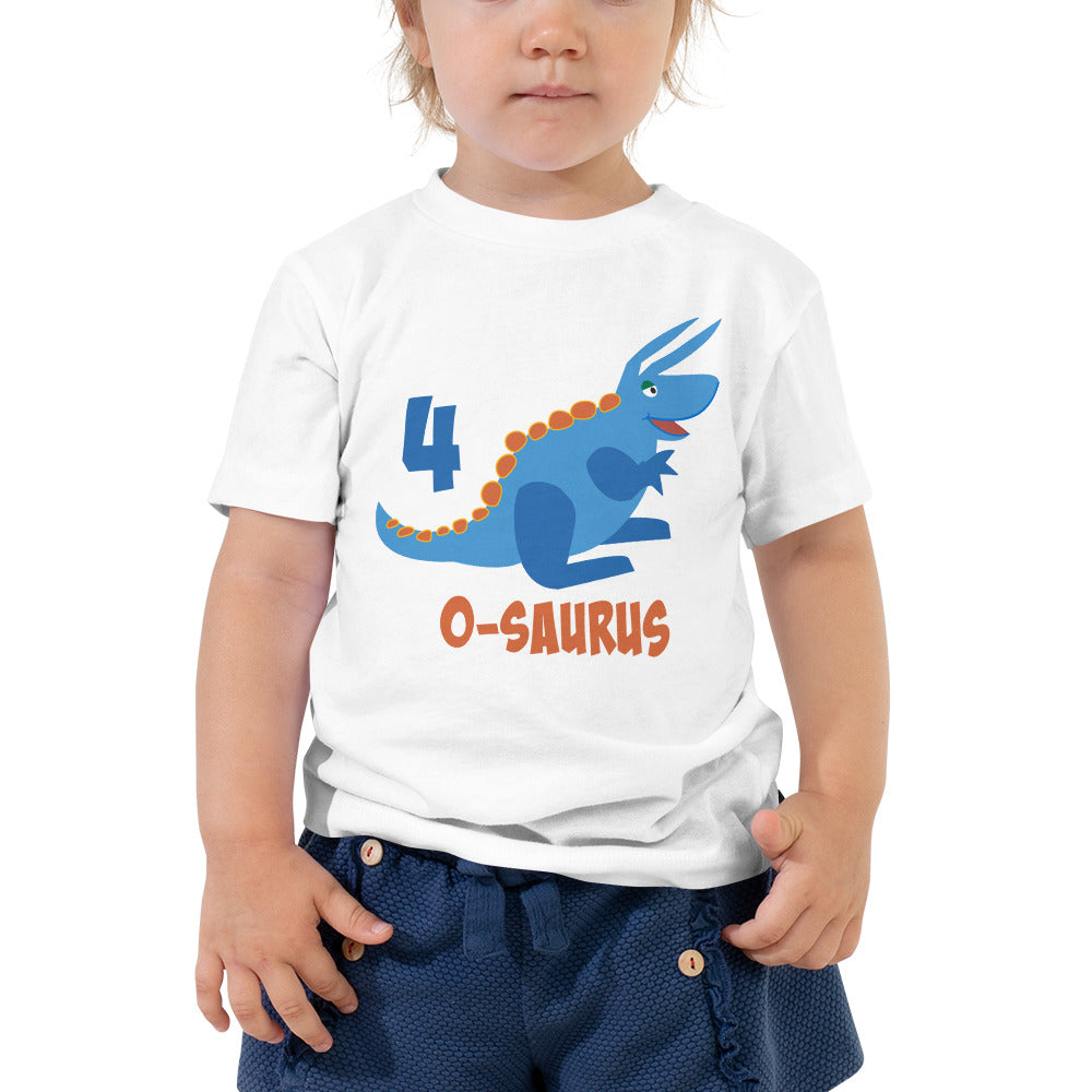Fourth Birthday Shirt for 4 Year Old Shirt Boy and Girls 4th Birthday Shirt with Blue Dinosaur Birthday Shirt Gift for Kids