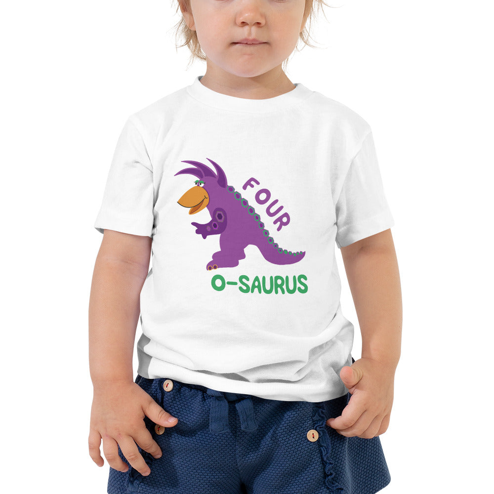 4 Year Old Shirt Fourth Birthday Shirt Boy Girls 4th Birthday Shirt Purple Dinosaur Birthday Shirt Gift for Kids Birthday Shirt Gift