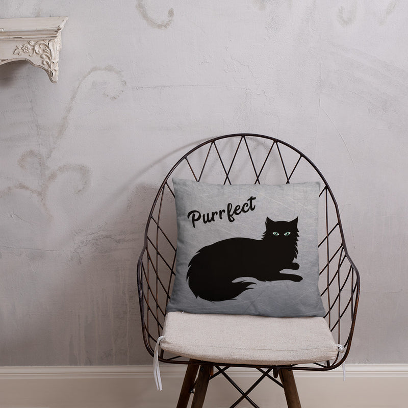 Cat Throw Pillows Black Cat Design Cute Home Decor Decorative Floor Cushion Housewarming Gift Cat Lovers Pet Lover