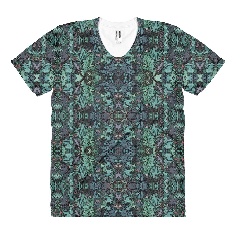 T-Shirt All-Over Print Unique Art Design Women's Short Sleeve - Sizes S - 2XL
