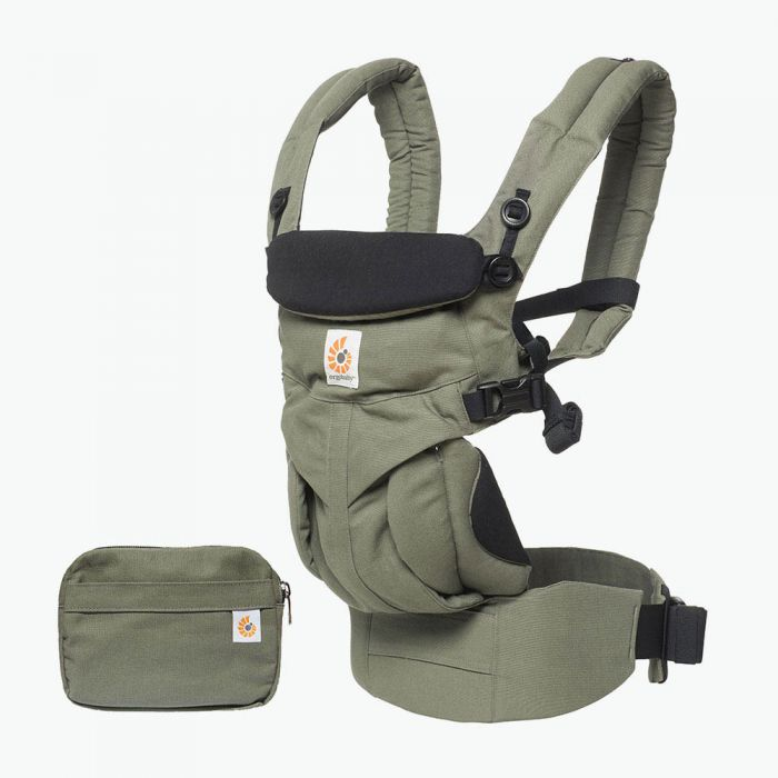 Baby Carrier Newborn to Toddler Lumbar Support Adjustable Omni 360 - Khaki Green