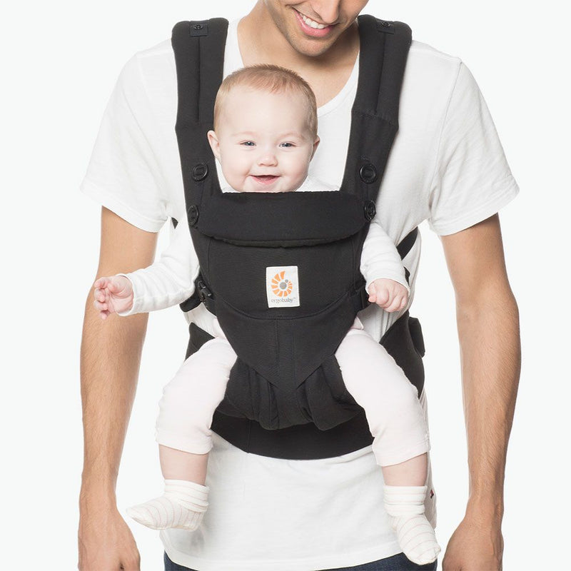 Baby Carrier Newborn to Toddler Lumbar Support Adjustable Omni 360 - Black