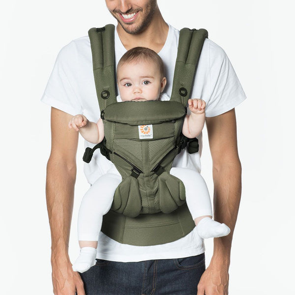 Baby Carrier Lightweight Adjustable Newborn to Toddler Cool Air Mesh Omni 360 - Khaki Green