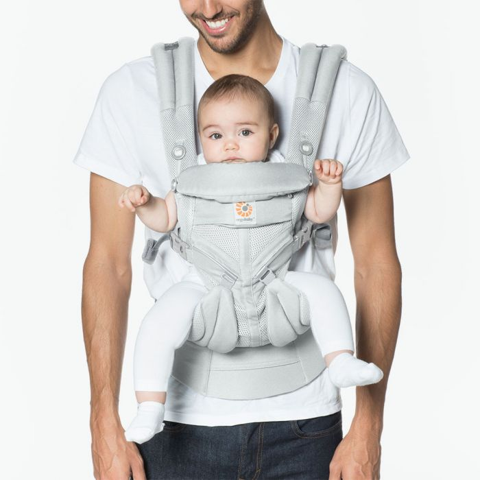 Baby Carrier Lightweight Adjustable Newborn to Toddler Cool Air Mesh Omni 360 - Pearl Grey