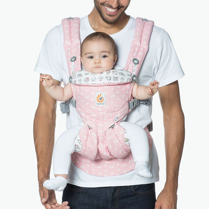 Baby Carrier Adjustable Newborn to Toddler Lumbar Support Limited Edition Pink Hello Kitty Omni 360