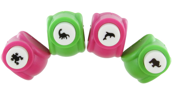 Paper Punch Shapes Animals: Dinosaur Frog Elephant Whale - Set of 4