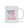 Coffee Mug, Coffee Cup, USA, Patriotic Gift, Red White Blue, Coffee Lovers, Tea Mug, Patriotic Mug, Gift Mug, Coffee Gift