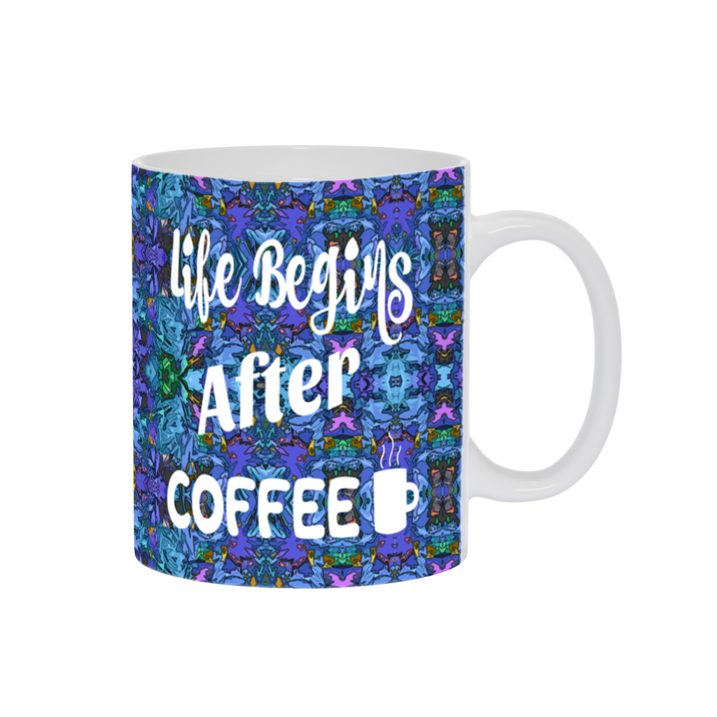 Coffee Mug, Coffee Cup,Coffee Mug W/ Saying,Coffee Gift,Espresso Mug, Blue Purple Mug,Funny Coffee Mug,Coffee Lovers,Ceramic