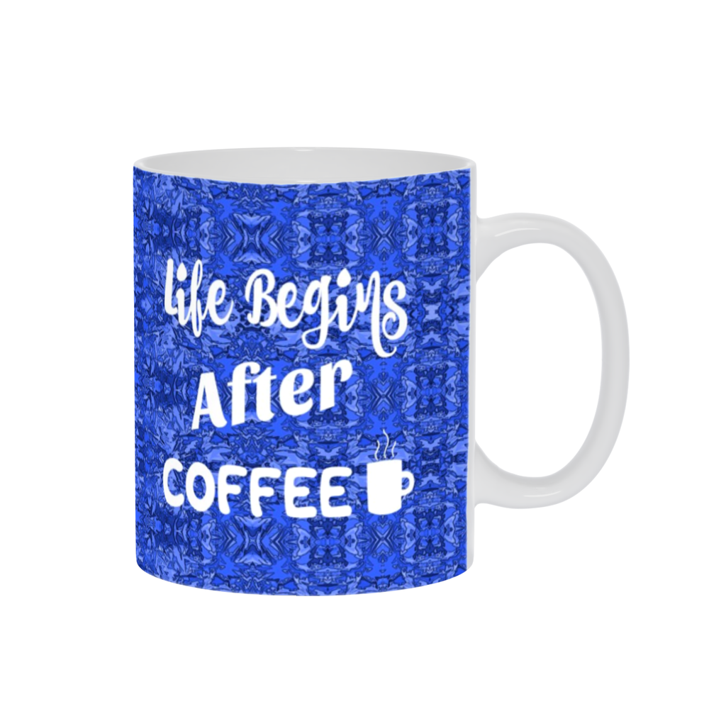 Coffee Mug, Coffee Cup, Coffee Mug W/ Saying,Coffee Gift,Espresso Mug, Blue Mug,Funny Coffee Mug,Coffee Lovers,Ceramic