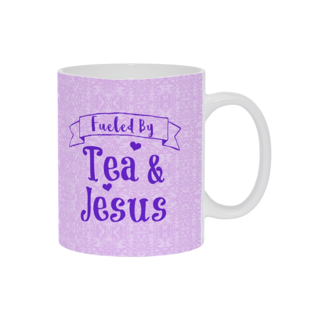 Coffee Mug, Tea Cup, Tea Mug W/ Saying,Coffee or Tea Gift,Espresso Mug, Purple Lavender Mug,Funny Coffee Mug, Tea Lovers,Ceramic, Christian