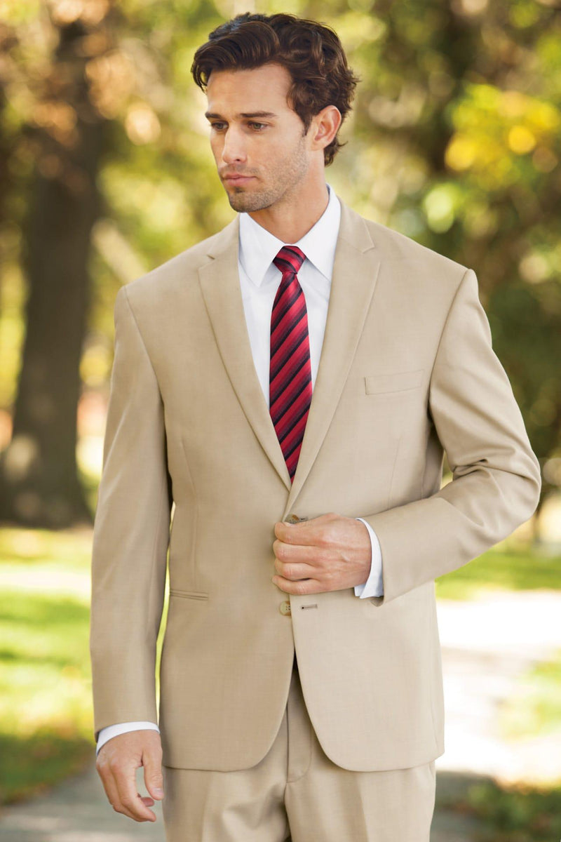 Khaki Tan Rental Suit for Informal Destination Beach Wedding, Prom or Formal Occassion