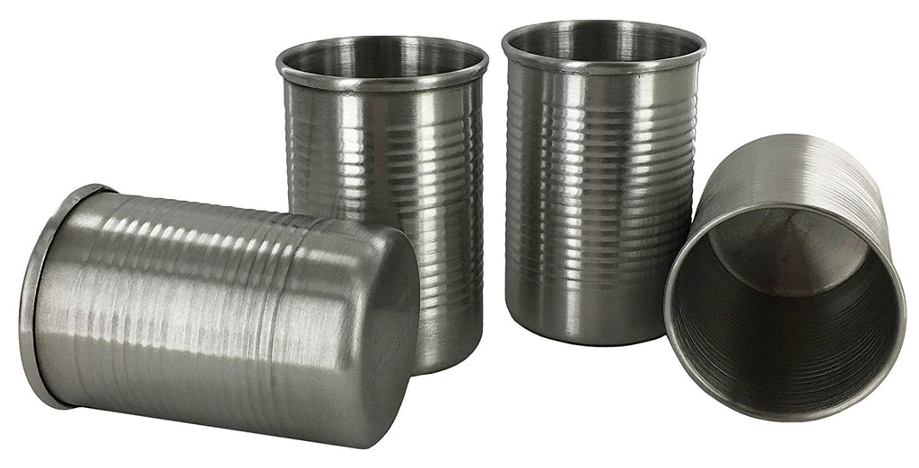 Funny Shot Glasses, Tin Can Unique Metal Gift Shot Glass - CanTeen 4 pc. Set