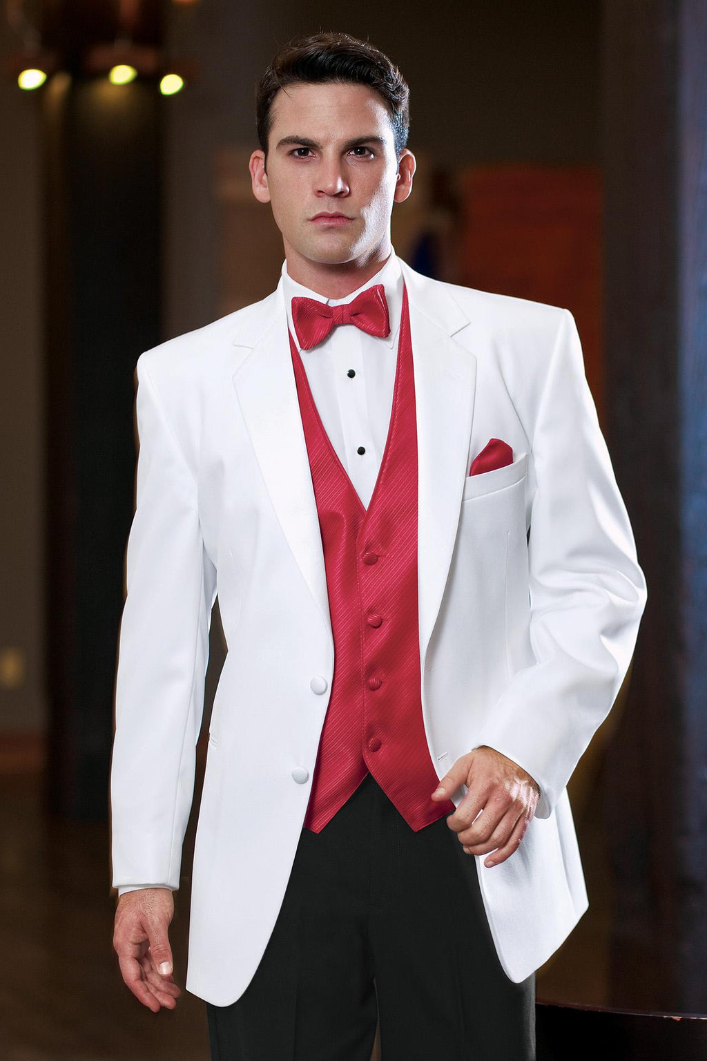 Tuxedo Rental in White for Wedding, Prom or Formal Occassion