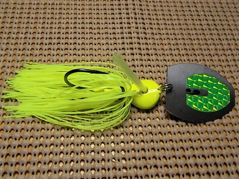 Magnum 3/4 oz. bladed jig, Chartreuse (David)