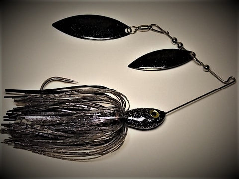 Spinnerbaits, Double Willow: Midnight Shad