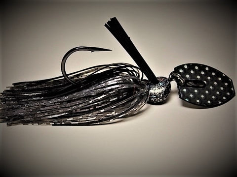 Bladed Swim Jig: Midnight Shad
