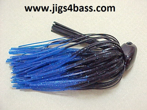 Flippin/Pitchin Jigs: Black, Blue Tip