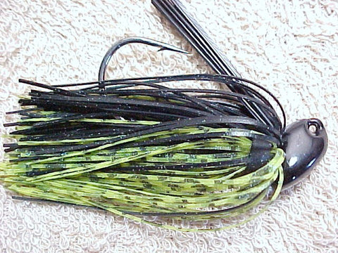 Flippn/Pitchn Jig: Black/ Chartreuse Barb Wire