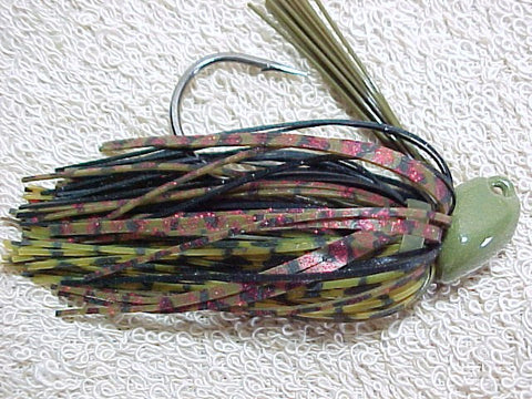 Flippn/Pitchn Jig:Black/ Red Green/ Whiskey