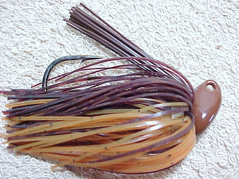 Flippn/Pitchn Jig: Brown Barb Wire/ Pumpkin