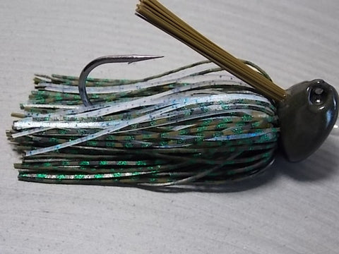 Flippn/Pitchn Jig:Green Pumpkin Barb Wire/ Glow